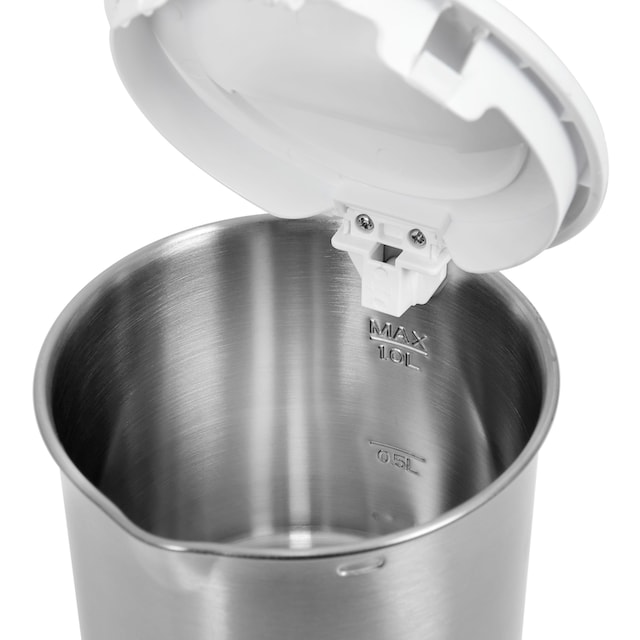 exquisit Wasserkocher, WK 3602 wei, 1 Liter, 1200 Watt