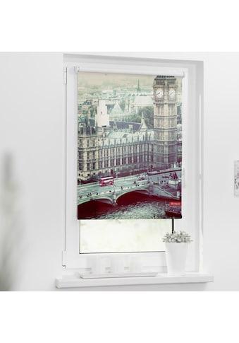 LICHTBLICK ORIGINAL Seitenzugrollo »Rollo Klemmfix, ohne Bohren, Verdunkelung, London... kaufen