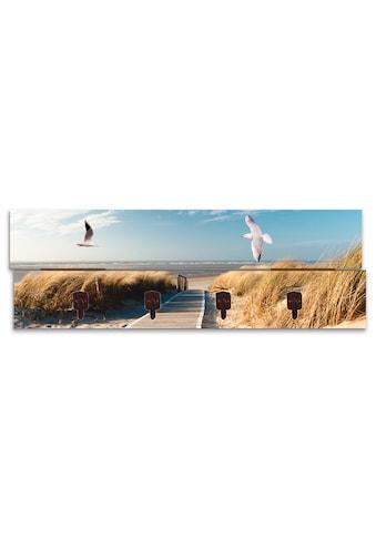 Artland Garderobenpaneel »Nordseestrand auf Langeoog mit Möwen«, platzsparende... kaufen