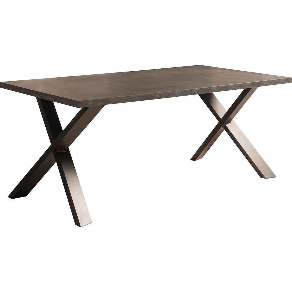 Home affaire Esstisch »Genova«, mit einer 4 cm starke Tischplatte, im hochwertigen italienischen Design, mit einem Metallgestell