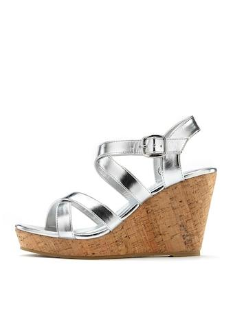 LASCANA High-Heel-Sandalette, mit Keilabsatz im Kork-Look kaufen
