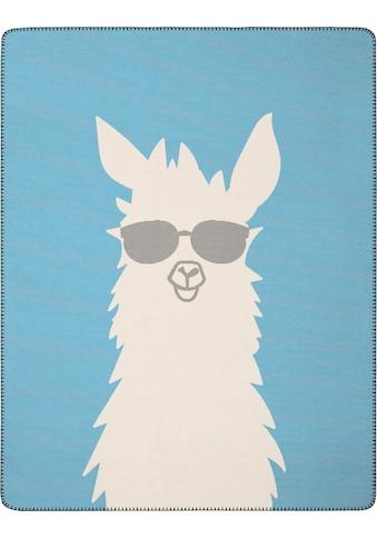 BIEDERLACK Wohndecke »Pretty Cool«, mit einem Lama kaufen