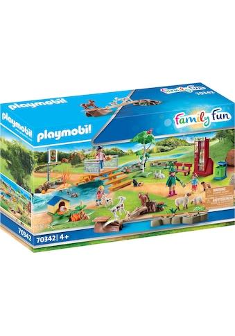 Playmobil® Konstruktions-Spielset »Erlebnis-Streichelzoo (70342), Family Fun«, (111... kaufen