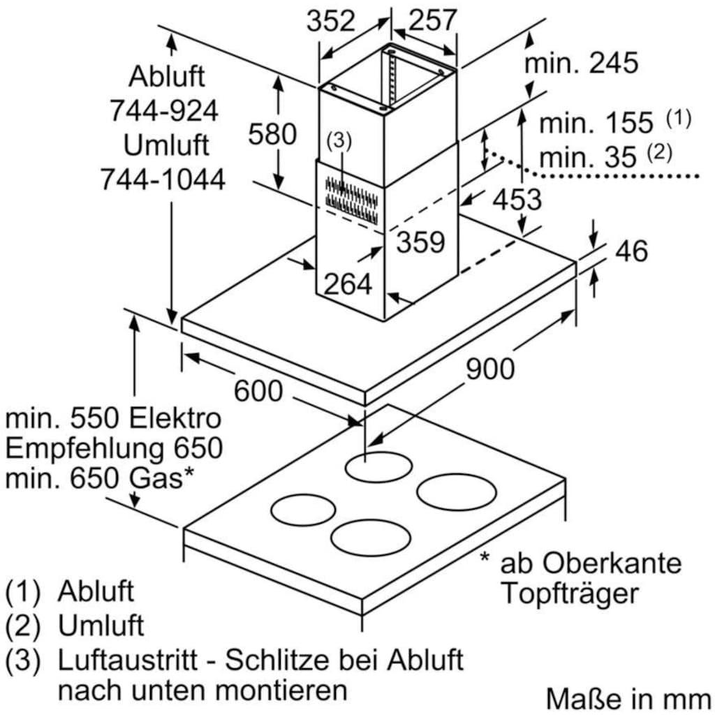 SIEMENS Inselhaube »LF98BIT50«, Serie iQ500