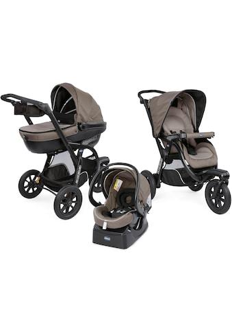 Chicco Kombi-Kinderwagen »Trio-System Activ3 Top, Dark Beige«, 15 kg, mit Regenschutz kaufen