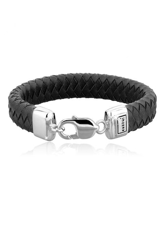 Kuzzoi Armband »Herren Echtleder Karabinerverschluss 925 Silber« kaufen