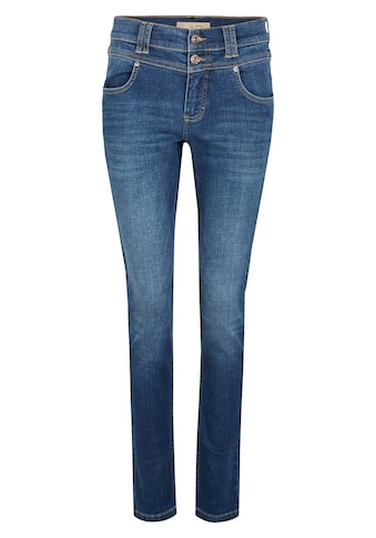 ANGELS Skinny-fit-Jeans, 'Skinny Button' in Uni-Design kaufen