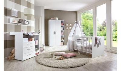 BMG Babyzimmer-Komplettset »Luis«, (Set, 4 tlg.), Bett + Wickelkommode + 2-trg. Schrank + Wandboard kaufen