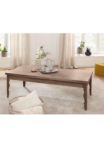 Home affaire Couchtisch »Magnolia«, aus massivem Akazienholz, mit schönen dekorativen... kaufen