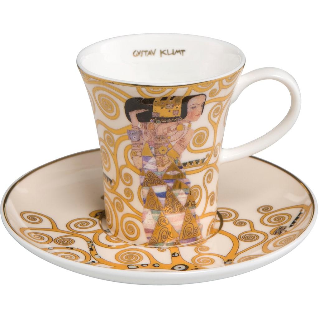 Goebel Espressotasse »Die Erwartung«, von Gustav Klimt