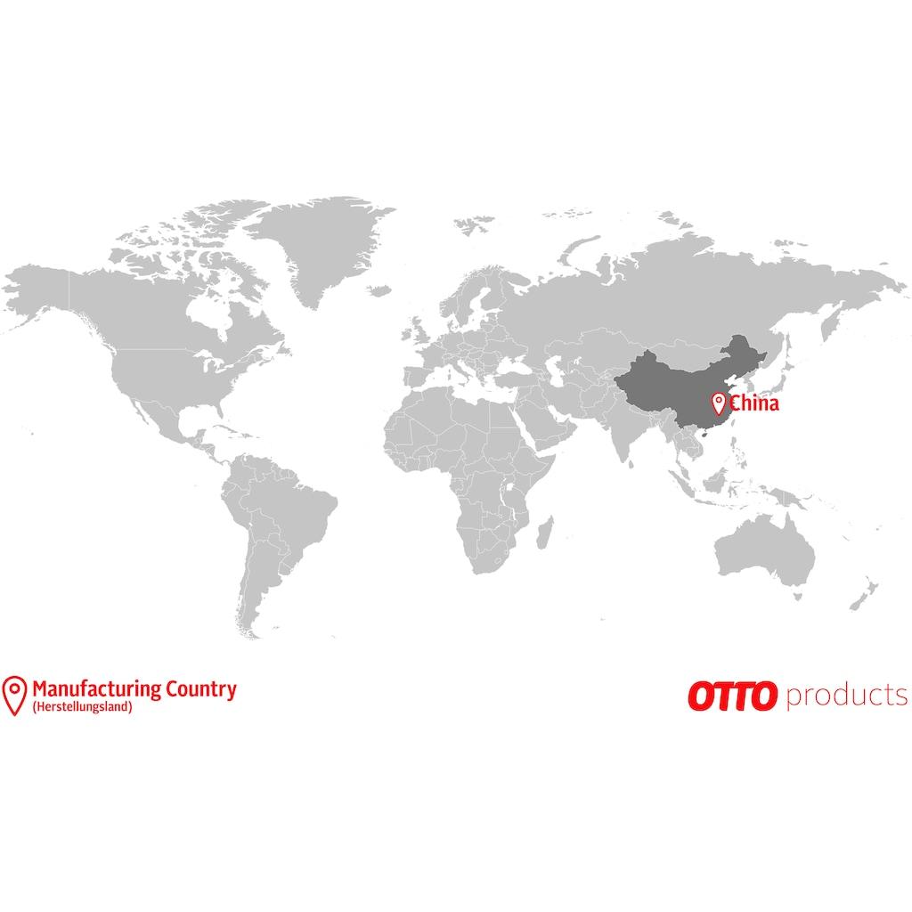 OTTO products Raffrollo »Lilja«, mit Ösen, ohne Bohren, nachhaltig, Leinen Optik, halbtransparent, monochrom