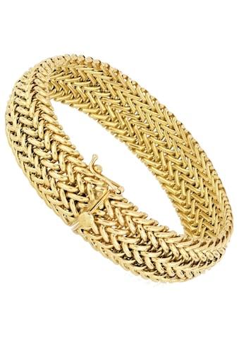 Firetti Armband »Doppelzopfkettengliederung, 15,5 mm breit, vergoldet, Glanz, konvex« kaufen