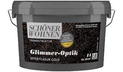 SCHÖNER WOHNEN-Kollektion Wohnraumlasur »Glimmer-Optik Effektlasur gold«, 1 l kaufen
