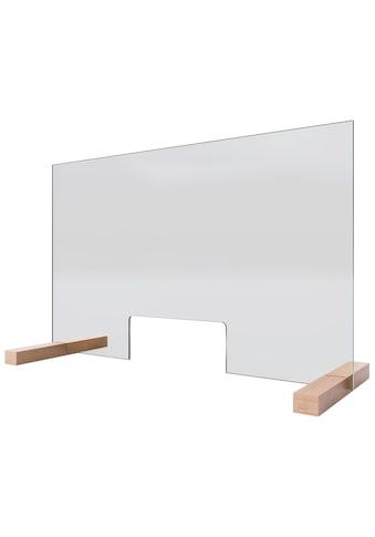 Schulte Stellwand »Glaswand«, Praktische Durchreiche von 250 x 110 mm, 5mm starkes... kaufen