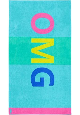 Seahorse Strandtuch »OMG«, (1 St.), mit Großbuchstaben kaufen