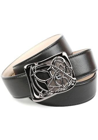 Anthoni Crown Ledergürtel, mit Designer Schließe kaufen