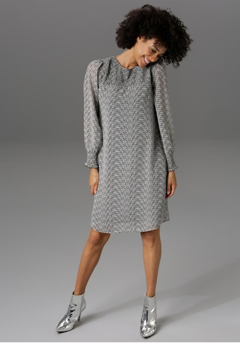 Aniston CASUAL Partykleid, im Fischgrat-Muster - NEUE KOLLEKTION kaufen