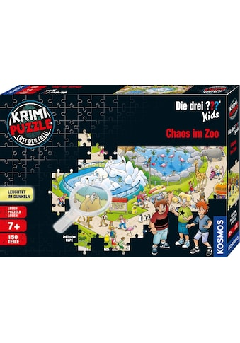 Kosmos Puzzle »Krimipuzzle Die drei ??? Kids Chaos im Zoo«, leuchtet im Dunkeln, Made... kaufen