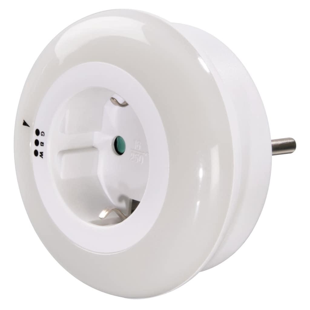 Hama Nachtlicht LED mit Dämmerungssensor und Steckdose, 3 Farben