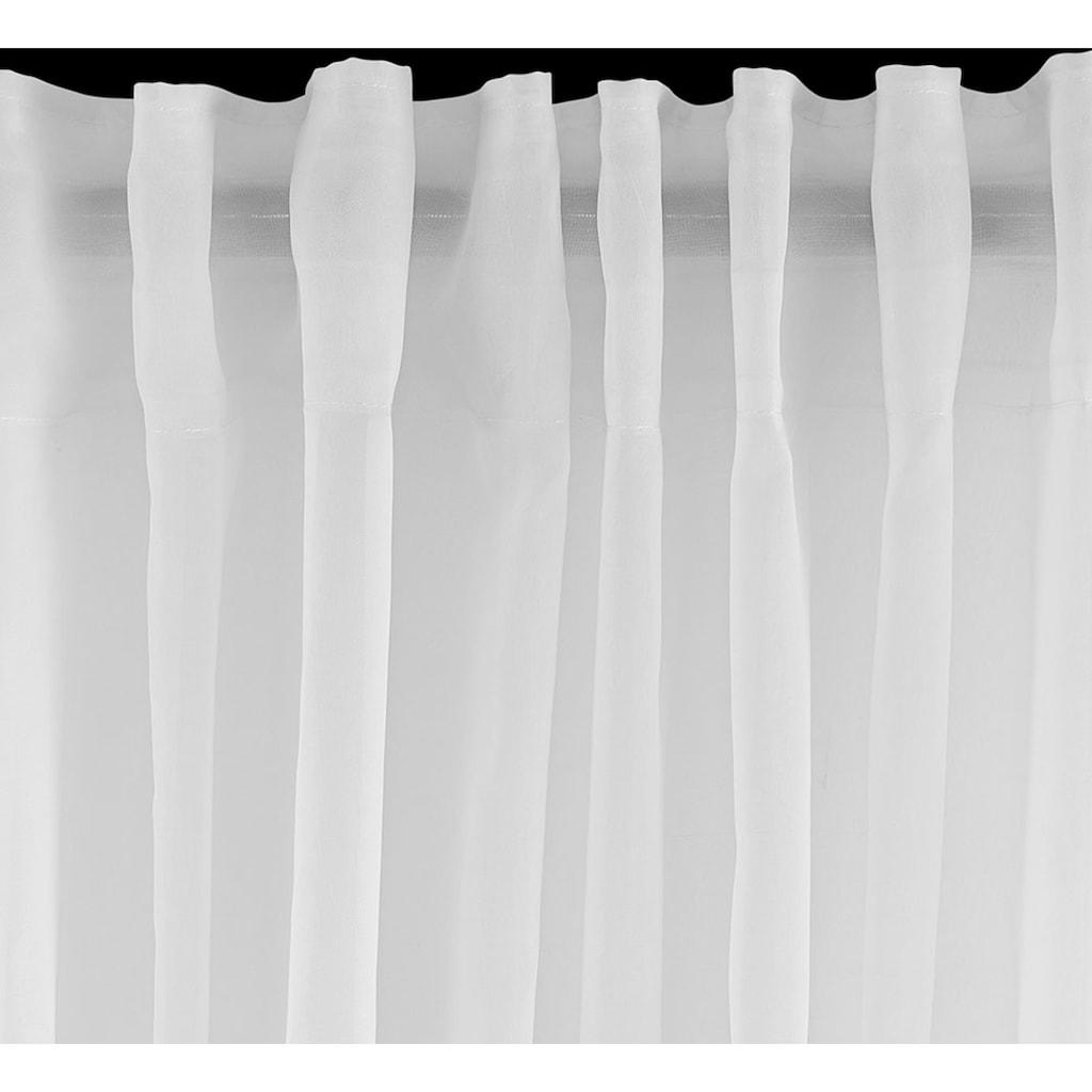 OTTO products Gardine »JULY«, nachhaltig, halbtransparent, monochrom, basic