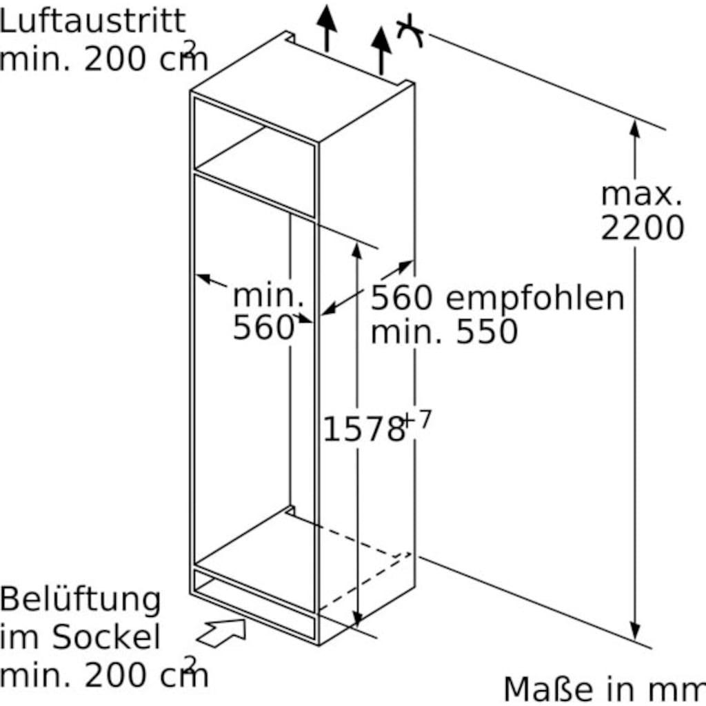 SIEMENS Einbaukühlgefrierkombination »KI77SADD0«, iQ500