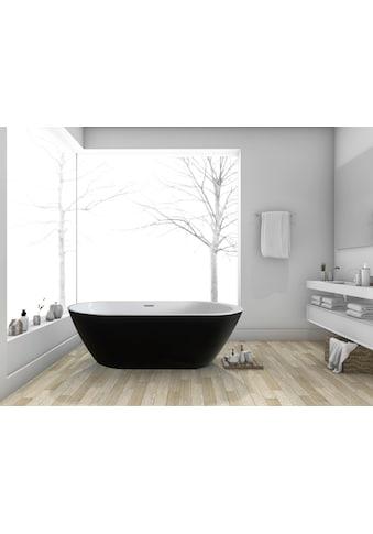 HOME DELUXE Badewanne »Codo black Edition«, B/T: 170 / 80 / 58 cm (B/T/H), freistehend kaufen