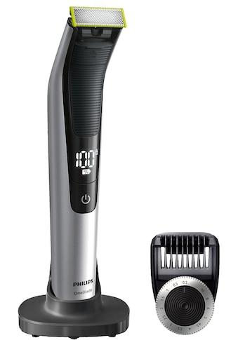 Philips Elektrorasierer »OneBlade Pro QP6520/30«, 1 St. Aufsätze, SmartClick-Präzisionstrimmer, Trimmen, Stylen und Rasieren jeder Bartlänge kaufen