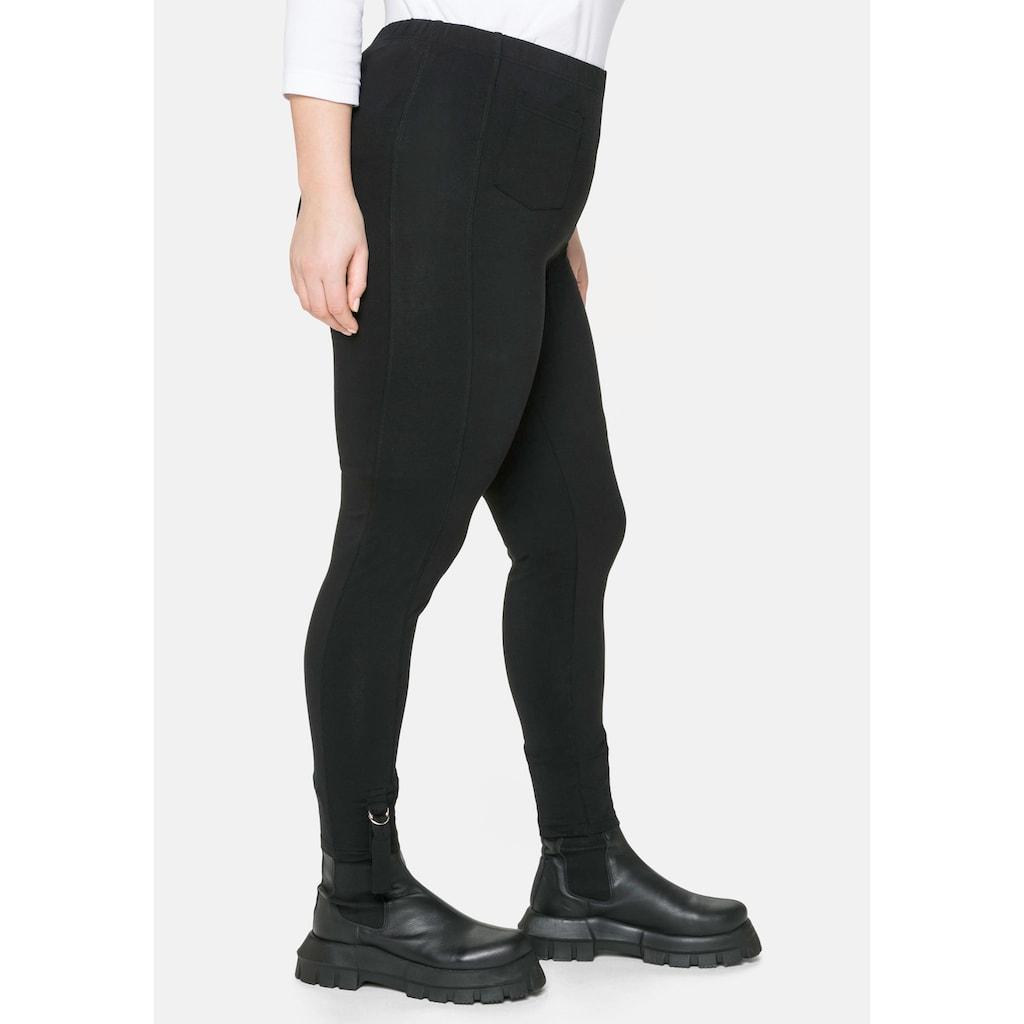 Sheego Leggings, in 7/8-Länge, mit Tasche und Lasche seitlich am Saum