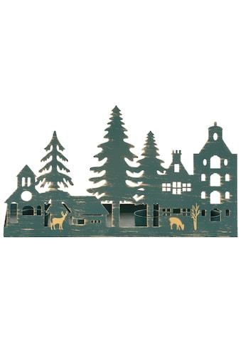 Home affaire Kerzenhalter »Weihnachtsdorfsilhouette«, Breite 35 cm kaufen