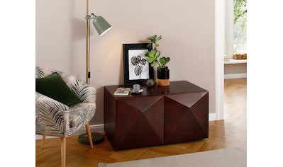 Home affaire Couchtisch »Diamond«, aus massivem Mangoholz mit 3D-Optik auf den... kaufen