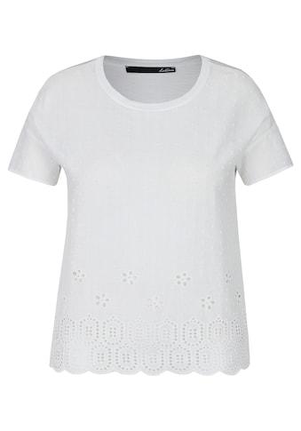 LeComte T-Shirt, mit Loch-Muster und Uni-Design kaufen