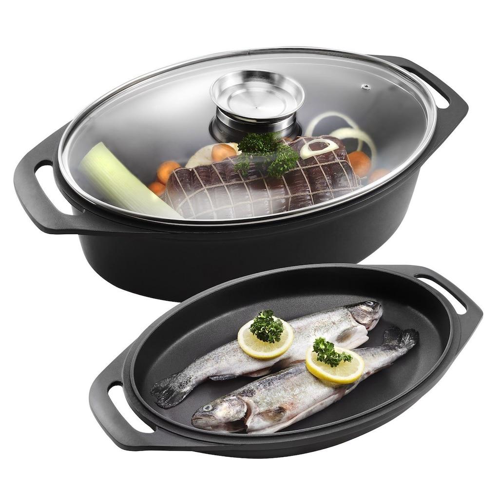 Kopf Bräter »Bräter«, Aluminiumguss, inkl. Grill-/Fischpfanne