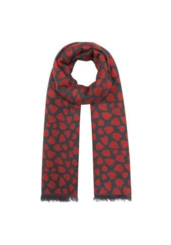 Codello XXL-Schal, mit stilisiertem Herzchen-Print kaufen