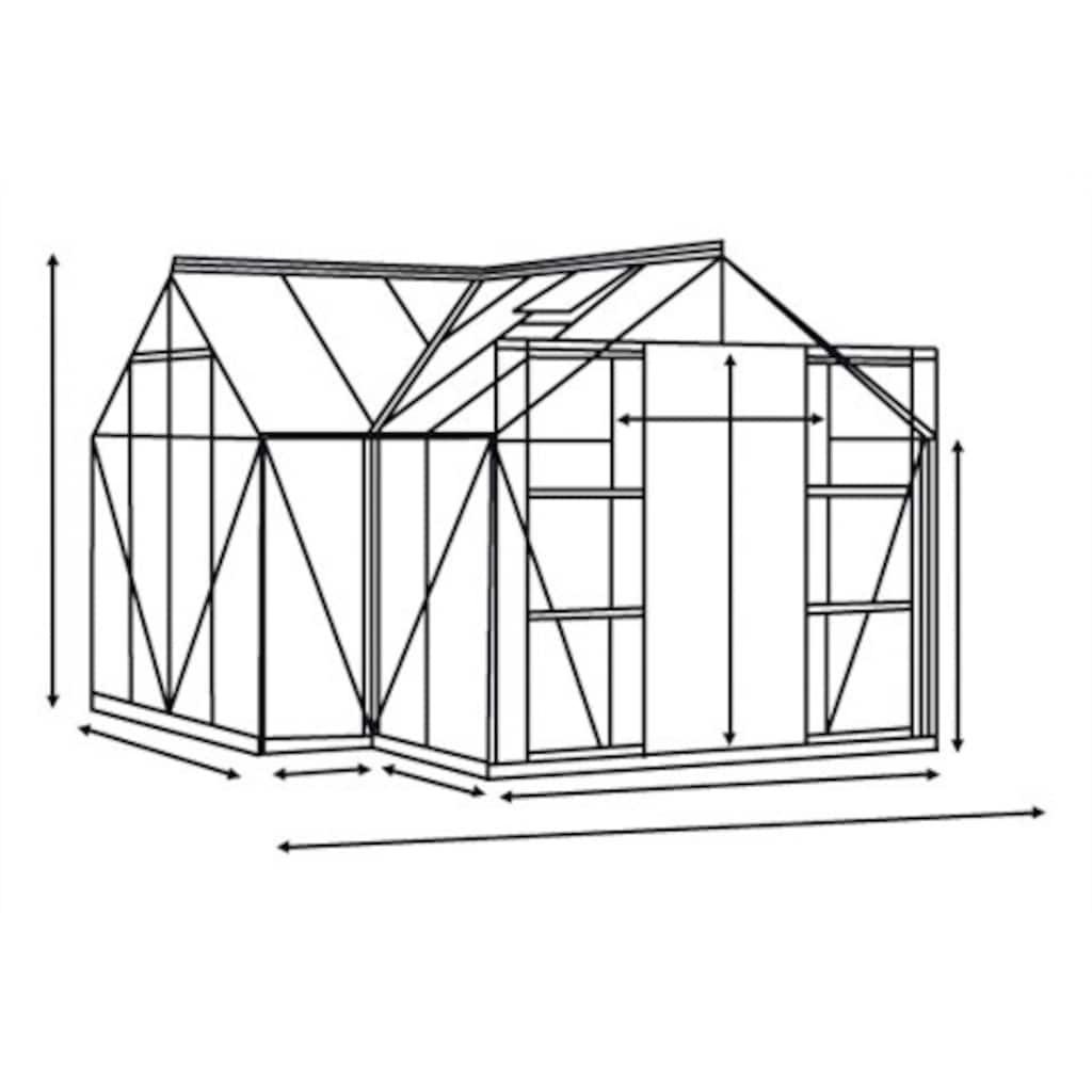 Vitavia Gewächshaus »Sirona«, (mit Fundamentrahmen)