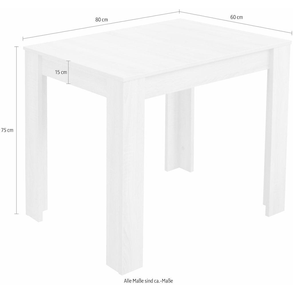 Esstisch, Breite 80/110/120 cm mit Auszug