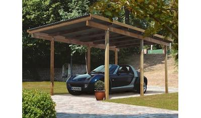 Karibu Einzelcarport »Eco 1«, Holz, 250 cm, braun kaufen