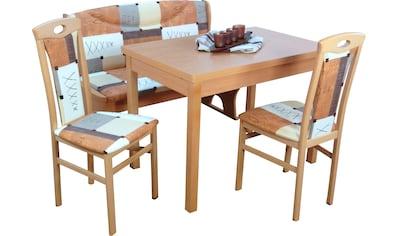 Essgruppe »Madrid« (Spar - Set, 4 - tlg 1 Sitzbank, 1 Esstisch, 2 Stühle) kaufen