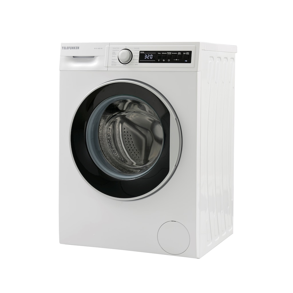 Telefunken Waschmaschine »W-8-1400-W«, W-8-1400-W, 8 kg, 1400 U/min, (8 kg / weiss)