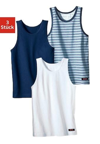 H.I.S Unterhemd, (3 St.), cooler Uni-Streifen-Mix kaufen