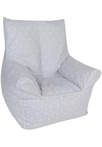 Knorrtoys® Sitzsack »Geo cube, grey«, für Kinder; Made in Europe kaufen