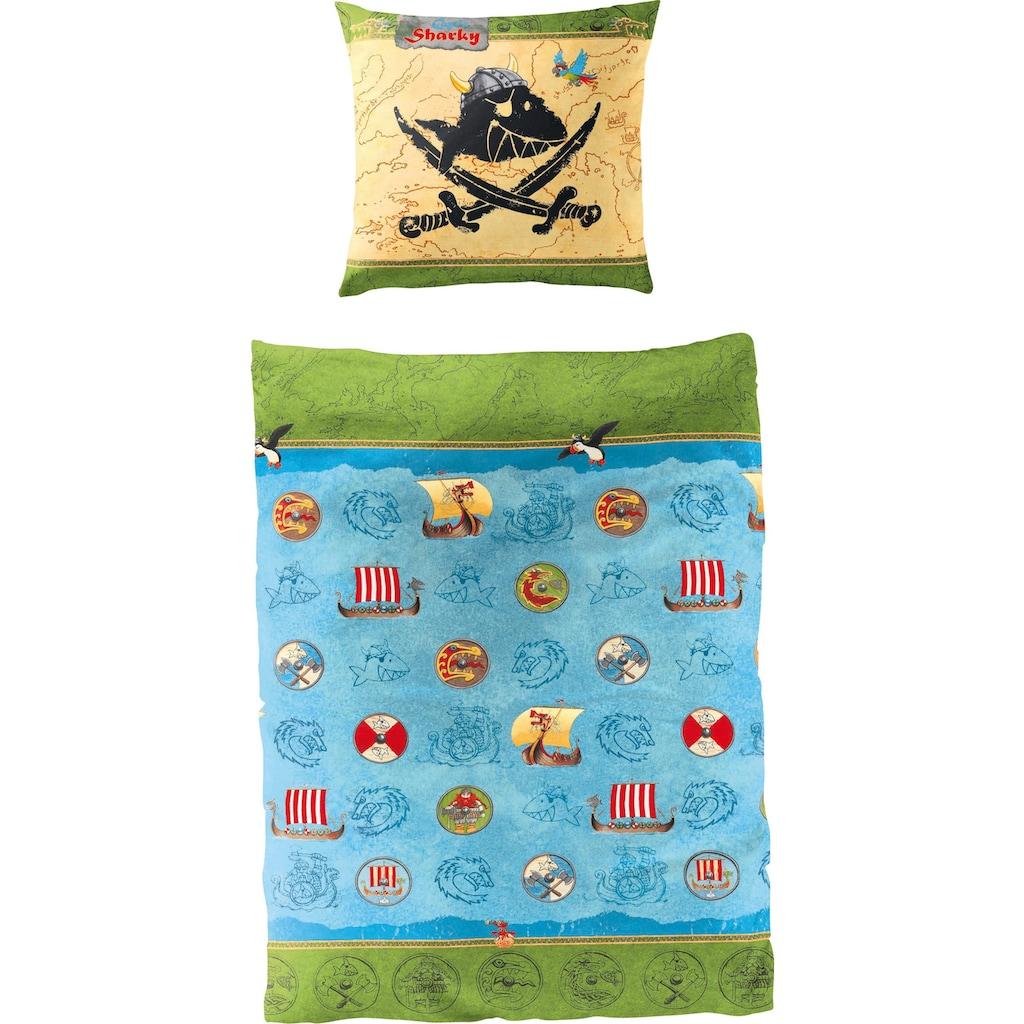 Capt`n Sharky Kinderbettwäsche »Wikinger«, in tollem Wendedesign