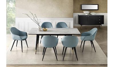 Leonique Esstisch »Lyon«, mit Keramik-Tischplatte in Marmoroptik kaufen
