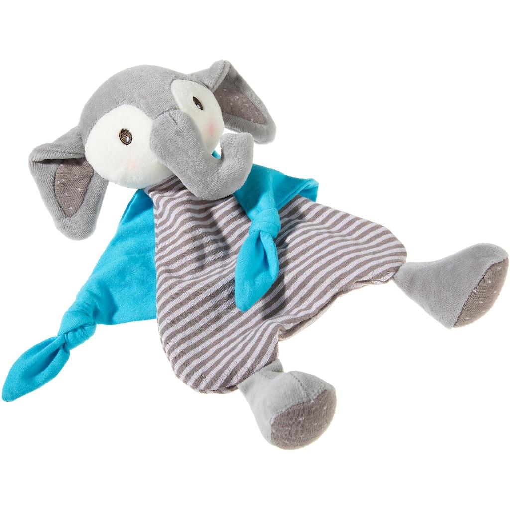 Heunec® Schmusetuch »FrohNATURen Elefant, riverblue«, GOTS organic, zertifiziert durch CERES-0560
