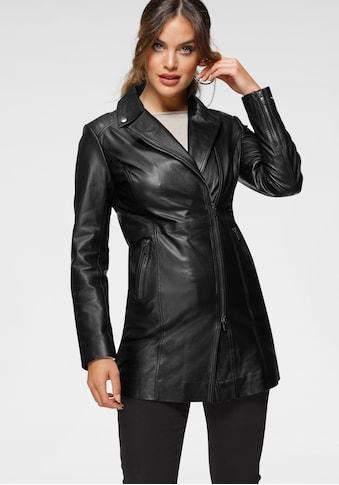 Tamaris Kurzmantel, aus weichem Leder kaufen