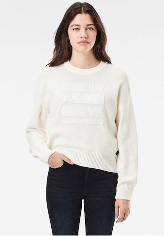 G-Star RAW Sweatshirt »Raw space gr bf r knit«, mit großem Frontdruck kaufen