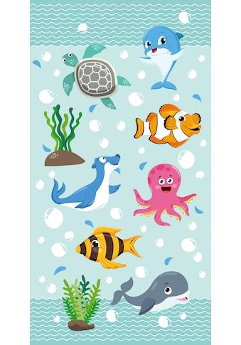 good morning Strandtuch »Seaworld«, (1 St.), mit niedlichen Tieren kaufen