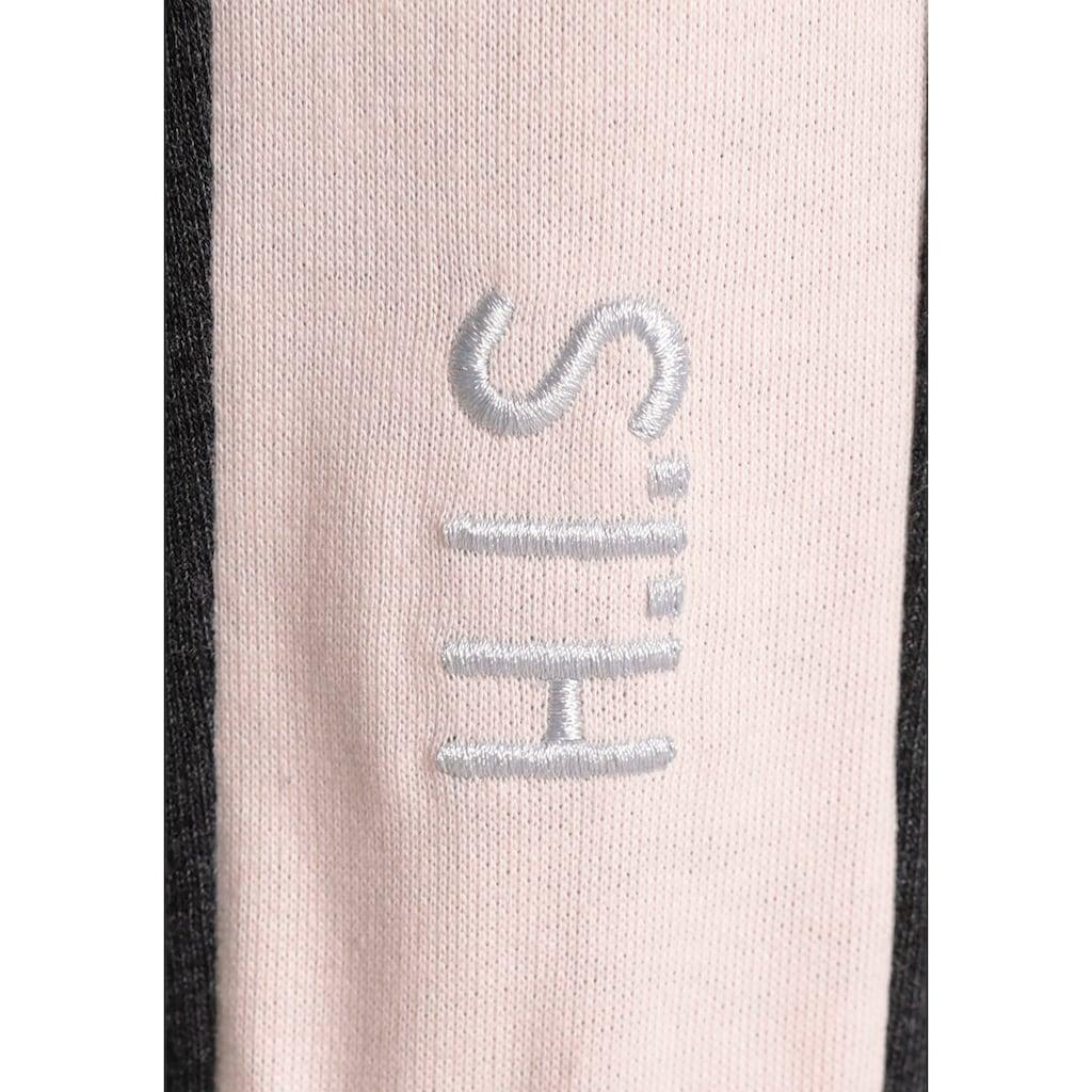 H.I.S 3/4-Sweathose »Nachhaltig aus zertifizierter Bio-Baumwolle«, in großen Größen