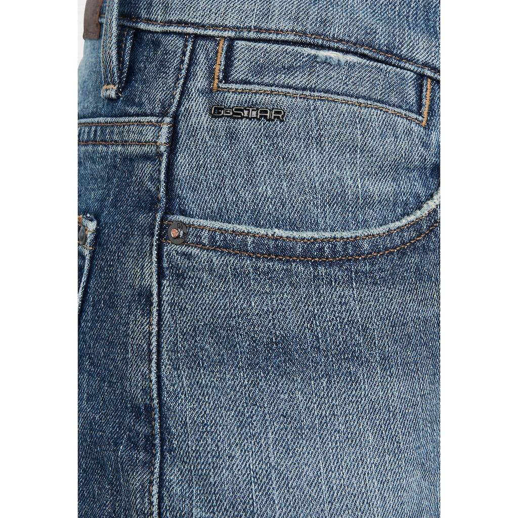 G-Star RAW Jeansshorts »Tedie Ripped Edge Ultra High Shorts«, mit umgeschlagenen, fixierten u. unversäuberten Saumabschluss