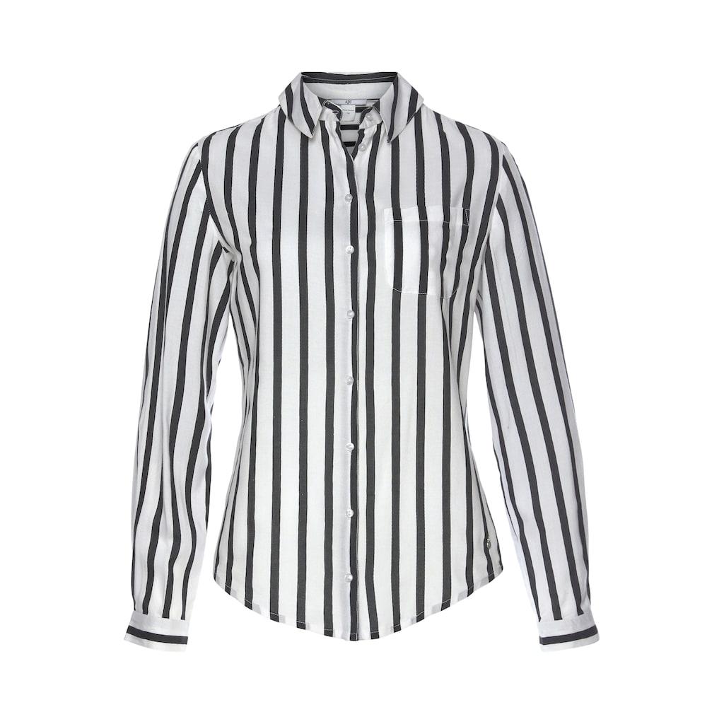 AJC Hemdbluse, aus weich fließender Viskose in uni oder bedruckt