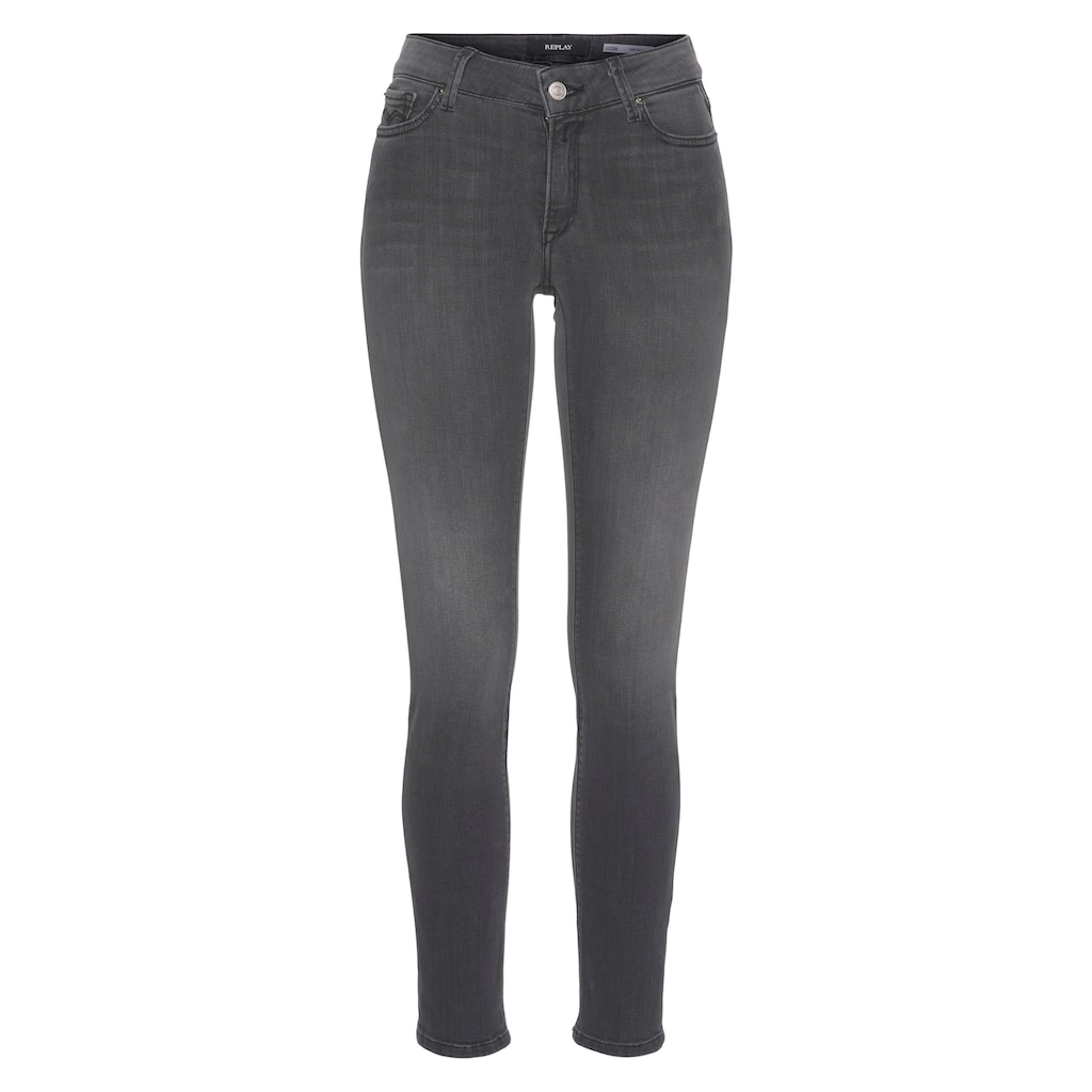 Replay Skinny-fit-Jeans »Luzien«, POWER STRETCH - High Waist